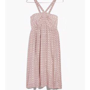 MADEWELL 100% Silk Convertible Halter Dress